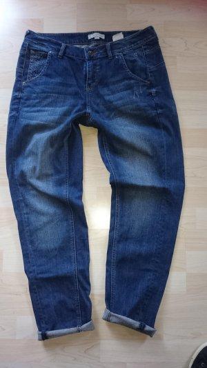 Comma Jeans Hose Boyfriend Gr 40 Blau Nieten