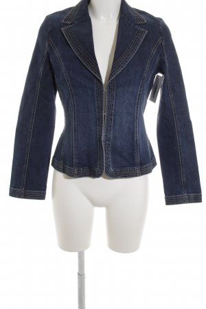Comma Jeansblazer blau Casual-Look