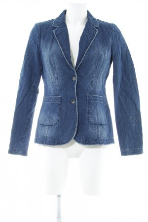 Comma Denim Blazer dark blue casual look