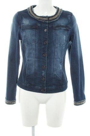 Comma Jeansjacke blau Street-Fashion-Look