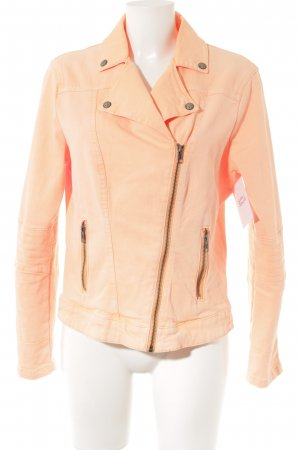 Comma Jeansjacke neonorange Casual-Look