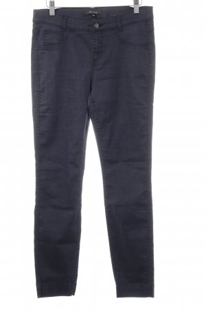 Comma Jeggings azul oscuro look casual