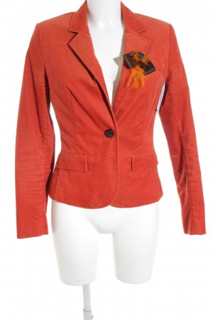 Comma Jerseyblazer dunkelorange-schwarz Business-Look