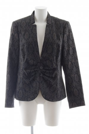 Comma Jerseyblazer graubraun-schwarz Ornamentenmuster Business-Look