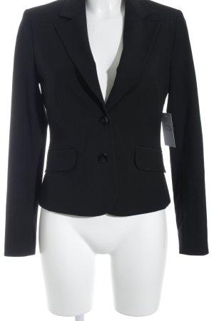 Comma Jersey blazer zwart zakelijke stijl