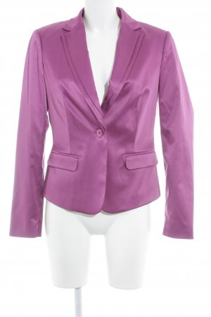 Comma Jerseyblazer violett Business-Look