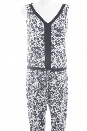 Comma Jumpsuit blue-white flower pattern casual look