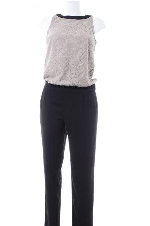 Comma Jumpsuit schwarz-altrosa Elegant