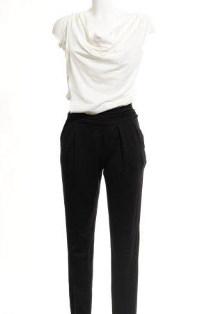 Comma Jumpsuit schwarz-weiß Brit-Look