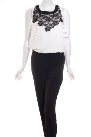 Comma Jumpsuit schwarz-weiß Elegant