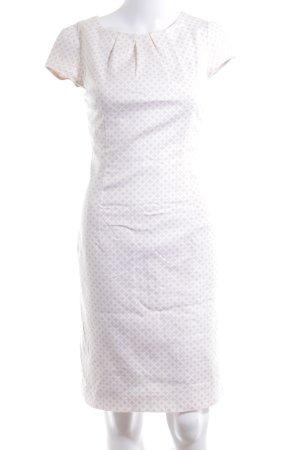 Comma Capuchonjurk nude-wit prints met een thema elegant