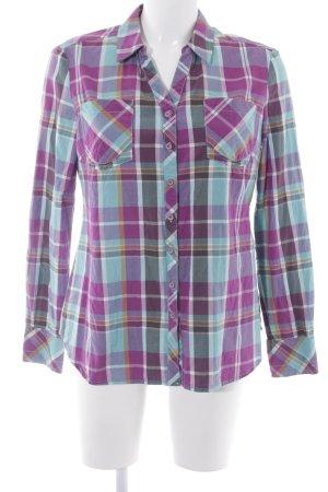 Comma Geruite blouse geruite print casual uitstraling