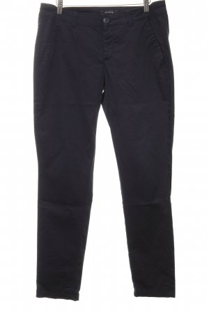 Comma Pantalone peg-top blu scuro stile casual