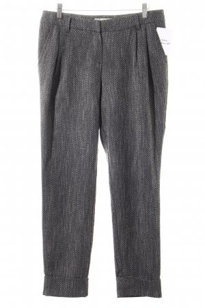 Comma Peg Top Trousers dark grey-natural white flecked casual look