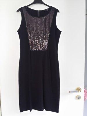 Comma Sequin Dress black mixture fibre