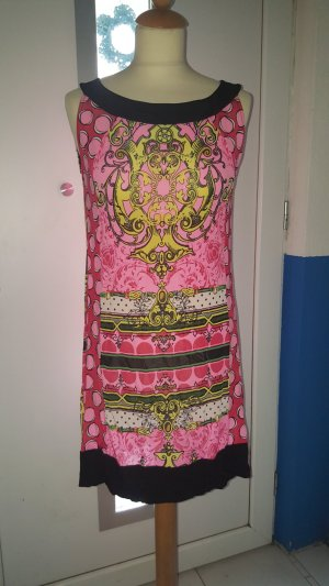 Comma Kleid Longshirt Gr. 38 pink schwarz