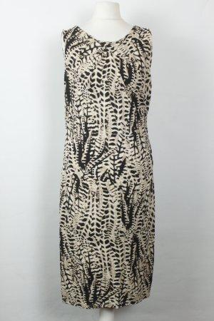 Comma Kleid Midikleid Gr. 38 schwarz weiß Muster