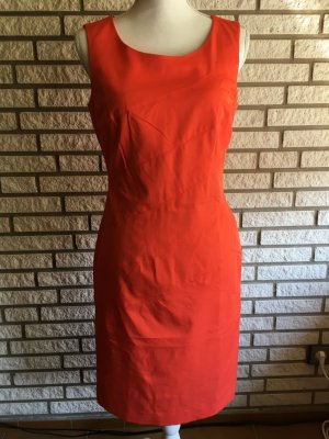 Comma Kleid orange rot 36
