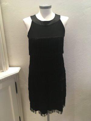 Comma Kleid schwarz Fransen Salsa Samba 34 XS