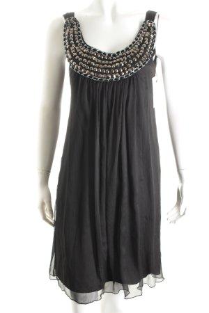 Comma Kleid schwarz Lagen-Look