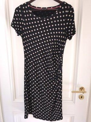 Comma Kleid Sommer Viskose schwarz creme Punkte
