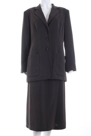 Comma Kostüm dunkelbraun Business-Look