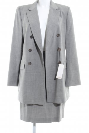Comma Ladies' Suit light grey-grey flecked business style