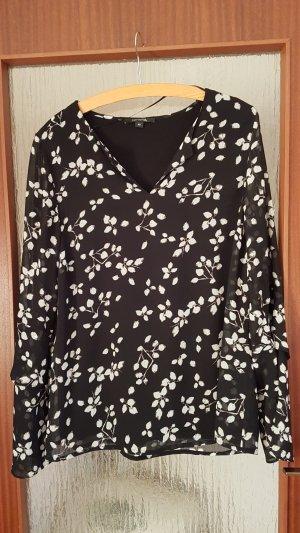 Comma Tunique-blouse noir-gris clair
