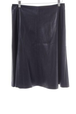 Comma Kunstlederrock schwarz Elegant