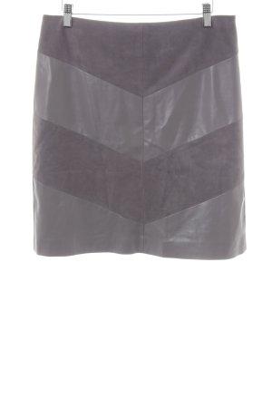 Comma Jupe en cuir synthétique gris motif abstrait style décontracté