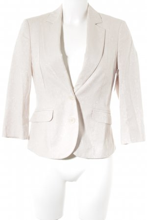 Comma Kurz-Blazer altrosa abstraktes Muster Business-Look