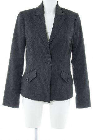 Comma Kurz-Blazer anthrazit meliert Business-Look