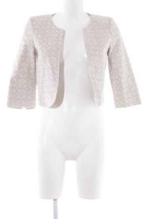 Comma Kurz-Blazer beige-hellbeige florales Muster Business-Look