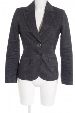 Comma Kurz-Blazer blau Casual-Look