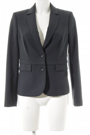 Comma Kurz-Blazer dunkelblau Casual-Look