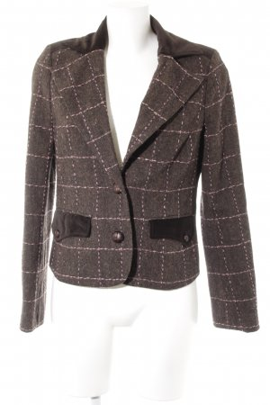 Comma Kurz-Blazer dunkelbraun Business-Look