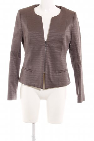 Comma Kurz-Blazer grau Zackenmuster Business-Look