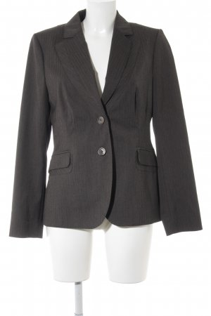 Comma Kurz-Blazer graubraun Streifenmuster Business-Look
