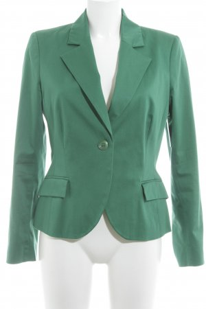 Comma Kurz-Blazer grün Business-Look
