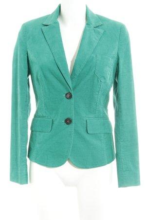 Comma Kurz-Blazer grün Casual-Look
