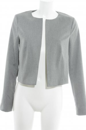 Comma Kurz-Blazer hellgrau Business-Look