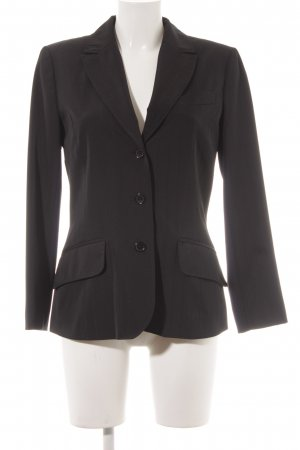 Comma Short Blazer black pinstripe business style