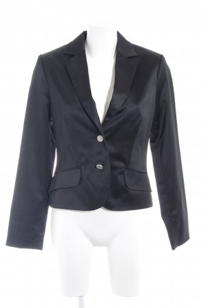 Comma Kurz-Blazer schwarz-silberfarben Business-Look