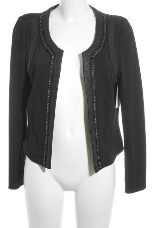 Comma Kurz-Blazer schwarz-silberfarben Elegant