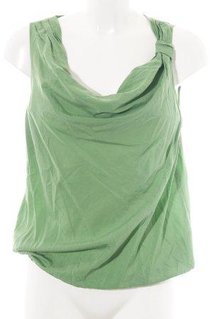 Comma Kurzarm-Bluse grün Casual-Look