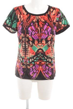 Comma Kurzarm-Bluse abstraktes Muster extravaganter Stil