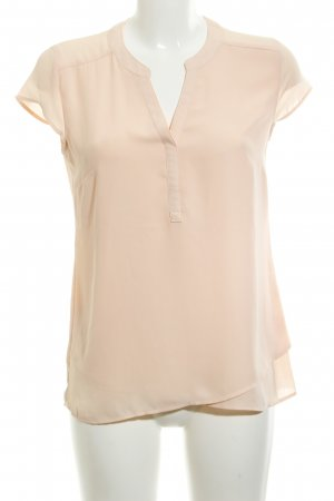 Comma Kurzarm-Bluse apricot Casual-Look