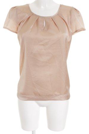 Comma Kurzarm-Bluse apricot Elegant