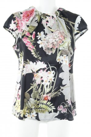 Comma Short Sleeved Blouse flower pattern casual look