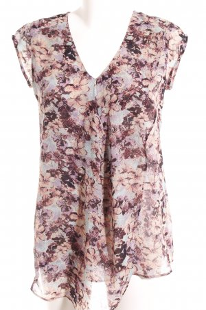 Comma Kurzarm-Bluse florales Muster Casual-Look